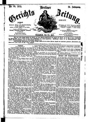 Berliner Gerichts-Zeitung vom 24.07.1875