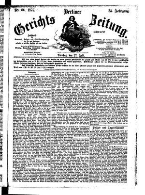 Berliner Gerichts-Zeitung vom 27.07.1875
