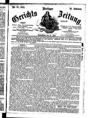 Berliner Gerichts-Zeitung vom 31.07.1875