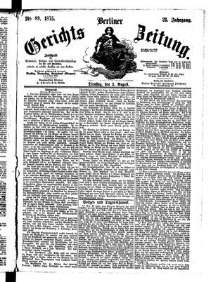 Berliner Gerichts-Zeitung vom 03.08.1875