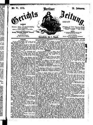 Berliner Gerichts-Zeitung vom 07.08.1875