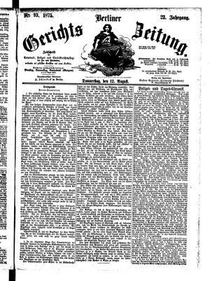 Berliner Gerichts-Zeitung vom 12.08.1875