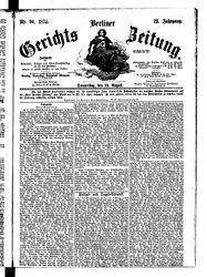 Berliner Gerichts-Zeitung (19.08.1875)