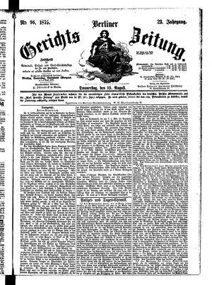 Berliner Gerichts-Zeitung vom 19.08.1875