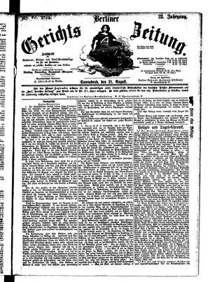 Berliner Gerichts-Zeitung vom 21.08.1875