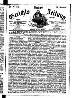 Berliner Gerichts-Zeitung vom 24.08.1875
