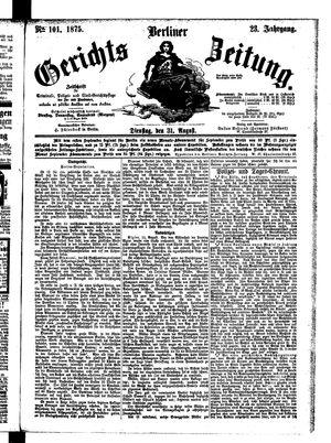 Berliner Gerichts-Zeitung vom 31.08.1875