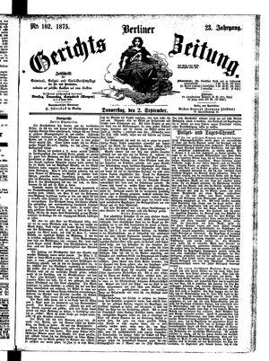 Berliner Gerichts-Zeitung vom 02.09.1875