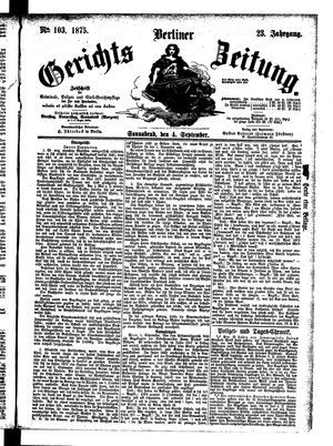 Berliner Gerichts-Zeitung vom 04.09.1875