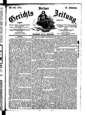 Berliner Gerichts-Zeitung vom 11.09.1875