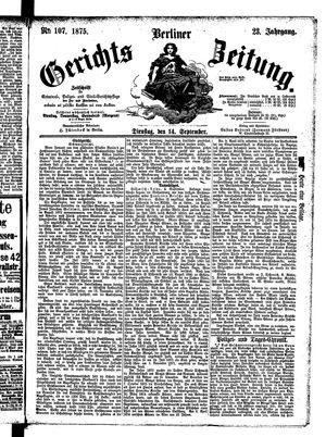 Berliner Gerichts-Zeitung vom 14.09.1875