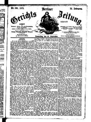 Berliner Gerichts-Zeitung vom 16.09.1875