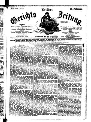 Berliner Gerichts-Zeitung vom 18.09.1875