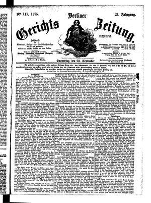 Berliner Gerichts-Zeitung vom 23.09.1875