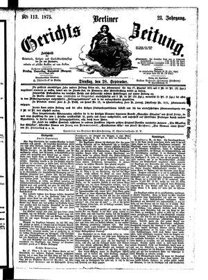 Berliner Gerichts-Zeitung vom 28.09.1875