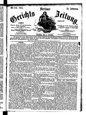 Berliner Gerichts-Zeitung vom 05.10.1875