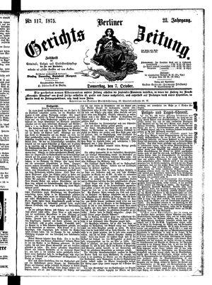 Berliner Gerichts-Zeitung vom 07.10.1875
