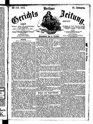 Berliner Gerichts-Zeitung on Oct 9, 1875
