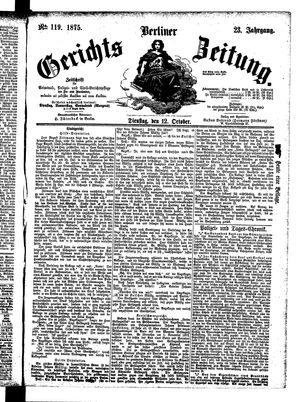 Berliner Gerichts-Zeitung vom 12.10.1875