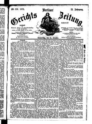 Berliner Gerichts-Zeitung vom 14.10.1875