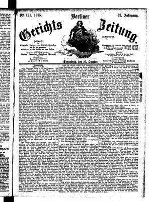Berliner Gerichts-Zeitung vom 16.10.1875