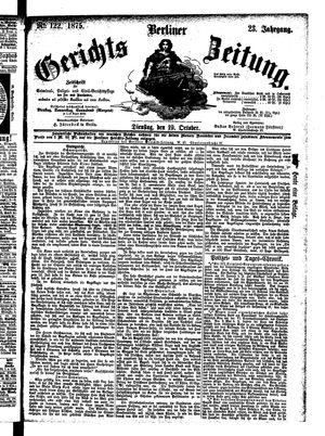 Berliner Gerichts-Zeitung vom 19.10.1875