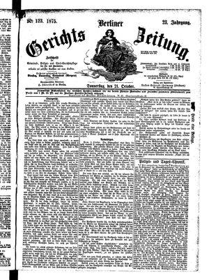 Berliner Gerichts-Zeitung vom 21.10.1875