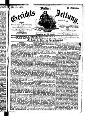 Berliner Gerichts-Zeitung vom 23.10.1875