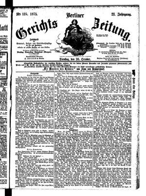 Berliner Gerichts-Zeitung vom 26.10.1875