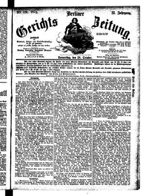 Berliner Gerichts-Zeitung vom 28.10.1875