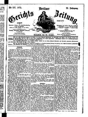 Berliner Gerichts-Zeitung vom 30.10.1875