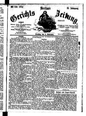 Berliner Gerichts-Zeitung vom 02.11.1875