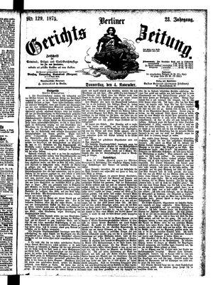 Berliner Gerichts-Zeitung vom 04.11.1875