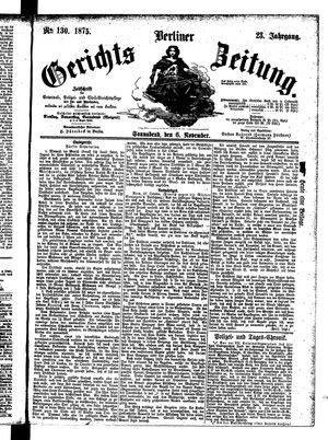 Berliner Gerichts-Zeitung vom 06.11.1875