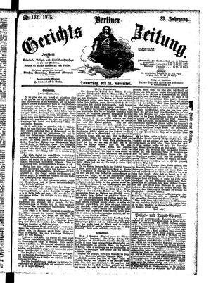 Berliner Gerichts-Zeitung vom 11.11.1875