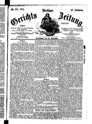 Berliner Gerichts-Zeitung vom 13.11.1875