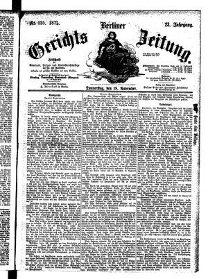 Berliner Gerichts-Zeitung vom 18.11.1875