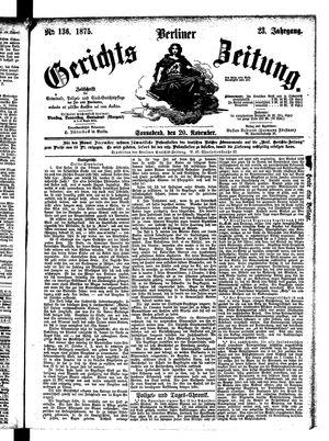 Berliner Gerichts-Zeitung vom 20.11.1875