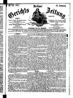 Berliner Gerichts-Zeitung vom 25.11.1875