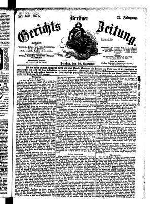 Berliner Gerichts-Zeitung vom 30.11.1875