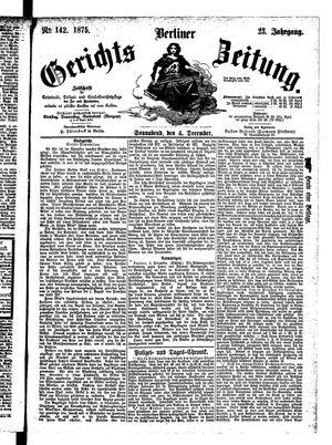 Berliner Gerichts-Zeitung vom 04.12.1875