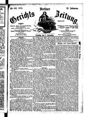 Berliner Gerichts-Zeitung on Dec 7, 1875