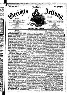 Berliner Gerichts-Zeitung vom 09.12.1875