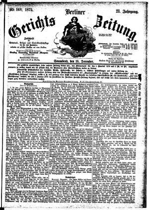 Berliner Gerichts-Zeitung on Dec 18, 1875