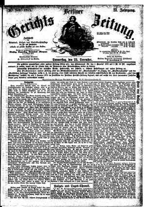 Berliner Gerichts-Zeitung vom 23.12.1875