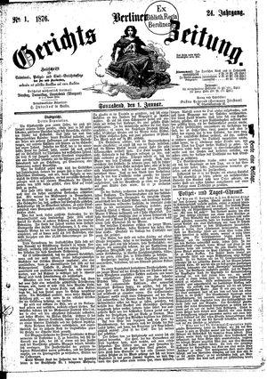 Berliner Gerichts-Zeitung vom 01.01.1876