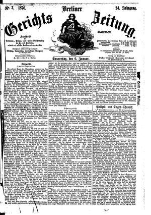 Berliner Gerichts-Zeitung vom 06.01.1876