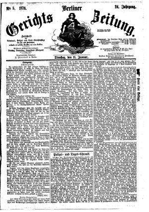 Berliner Gerichts-Zeitung vom 11.01.1876