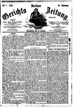 Berliner Gerichts-Zeitung vom 15.01.1876