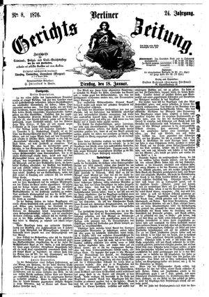 Berliner Gerichts-Zeitung vom 18.01.1876